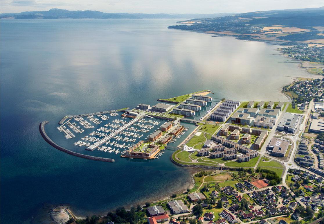 Slik vil Grilstad Marina se ut etter endt utbygging