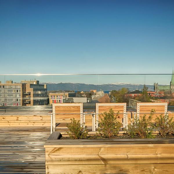 utsikt fra takterrassen
